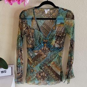Cache Silk blouse  size S